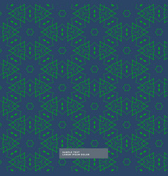 abstract shape green pattern in blue background vector image