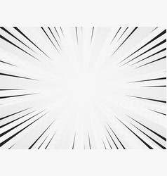 abstract sun burst line comic white color vector image