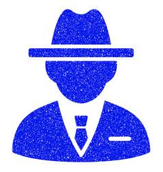 Agent grunge icon vector