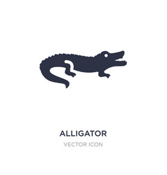 Alligator icon on white background simple element vector