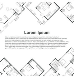 architectural background template vector image