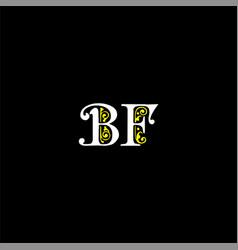 B f joint letter logo emblem design vector