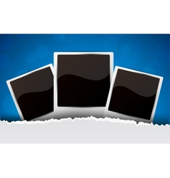 Background with photo frames vector image