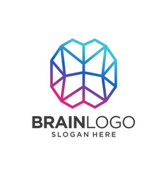brain logo design template vector image
