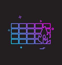 bricks wall icon design vector image