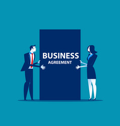 Business people and agreement of business concept vector