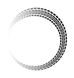 Circle gradient tire track vector