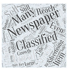 Classified Advertising in Local Markets Word Cloud vector