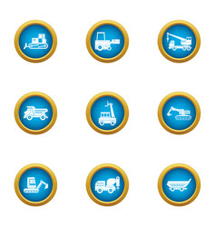 Cleaning equipment icons set flat style vector