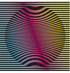 colored op-art background pattern geometric vector image