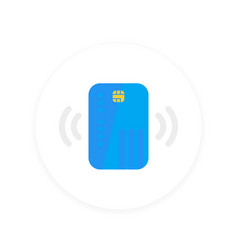 contactless credit card icon vector image
