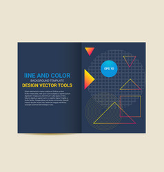 Cover brochure flyer template abstract geometric vector