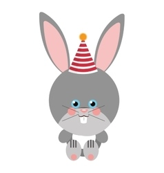 Cute rabbit flat icon vector image
