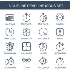 deadline icons vector image