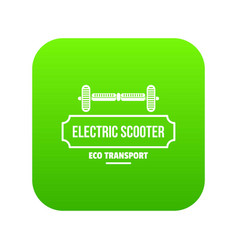 Device gyro scooter icon green vector