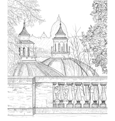 drawing a panorama rome vector image