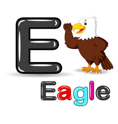 eagle and alphabet cartoon vector image