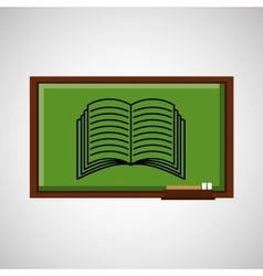 education concept blackboard with book vector image