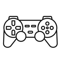 Ergonomic joystick icon outline style vector