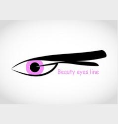 Eyelash extension logo in a modern style vector