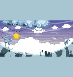 Fairytale landscape vector