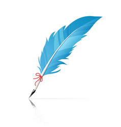 feather pen vector image
