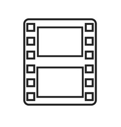 film strip frame linear icon vector image