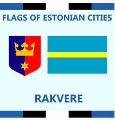 Flag of estonian city rakvere vector