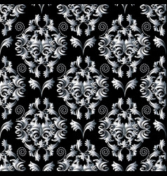 floral pattern wallpaper baroque damask vector image