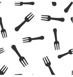 Fork restaurant icon seamless pattern background vector