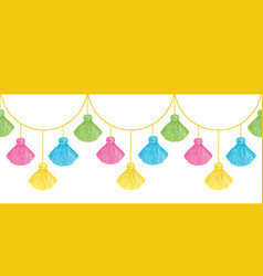 Fun colorful decorative tassels set vector