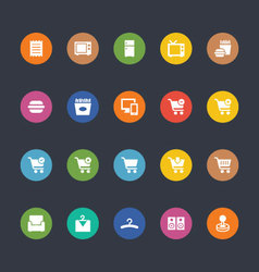 Glyphs Colored Icons 2 vector