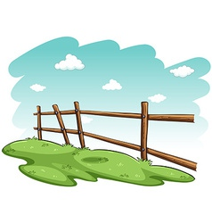 Green grasses near the fence vector image