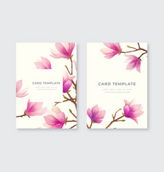 greeting cards with magnolia vector image