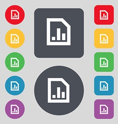 Growth and development concept graph of Rate icon vector image