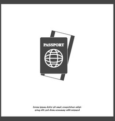 international passport with ticket on white vector image
