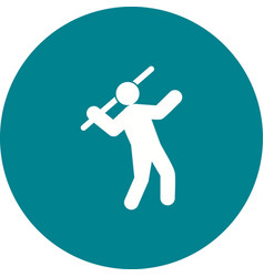 javelin throw vector image