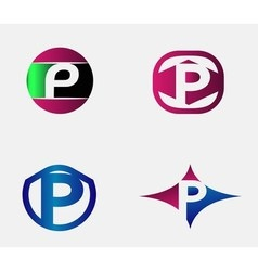 Letter P logo Alphabet logotype design vector