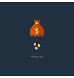 Licking money financial crisis loss budget vector image
