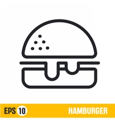 Line icon humburger vector