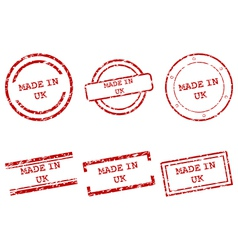 Made in UK stamps vector image