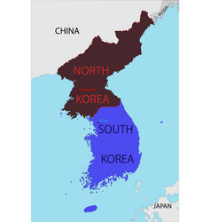 map south and north korea vector image