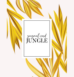 modern vector realistic palm leaves minimal card vector image