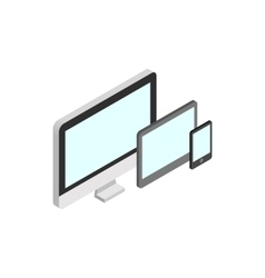 Monitor tablet and smartphone icon vector