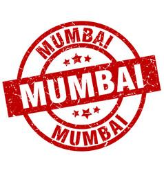 Mumbai red round grunge stamp vector