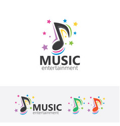 music entertainment logo vector image