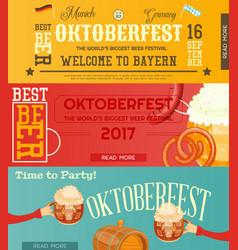 Oktoberfest beer festival banners set vector