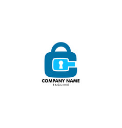 padlock letter c logo template vector image