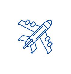 passenger plane line icon concept passenger plane vector image