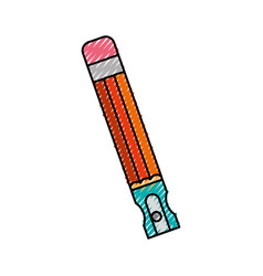 Pencil school supply with sharpenner vector